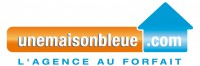 logo une maison bleue