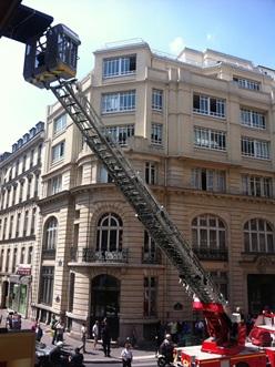 Déménagement pompiers échelle