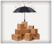 cartons protégés par un parapluie