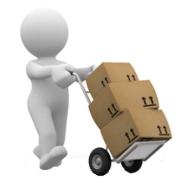 Déménagement, cartons, formule économique, transport