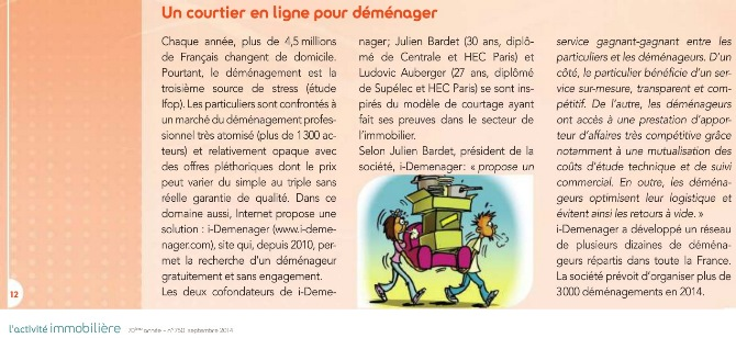 activite immobiliere iDemenager